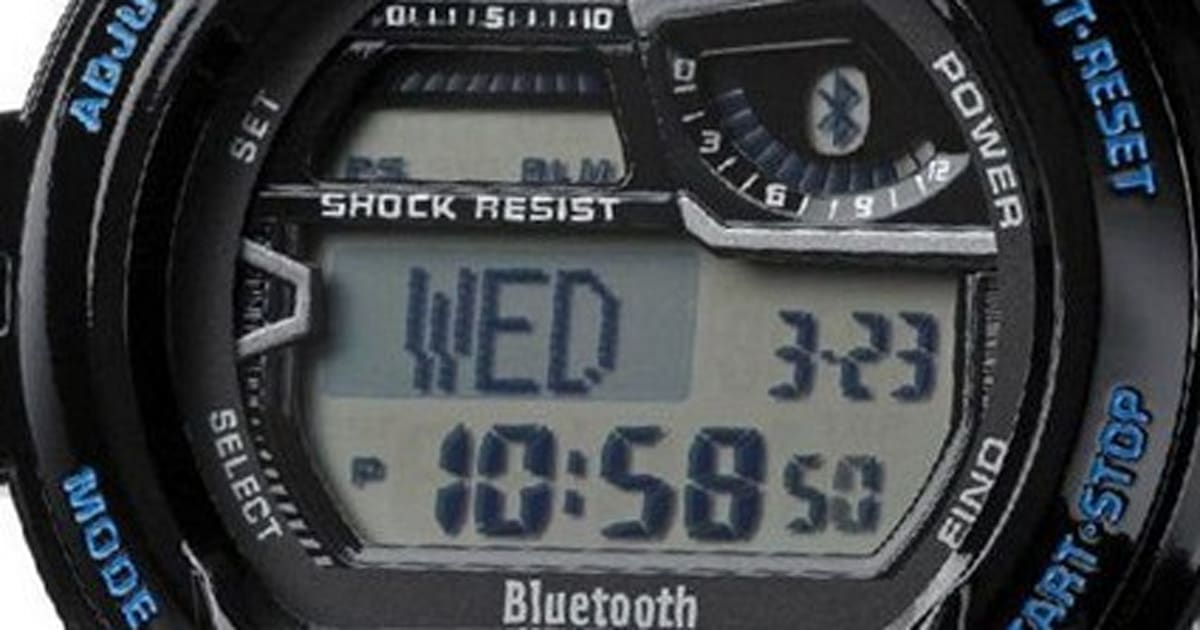 9da78f1754f Casio s Bluetooth 4.0 G-Shock is water and shock-resistant