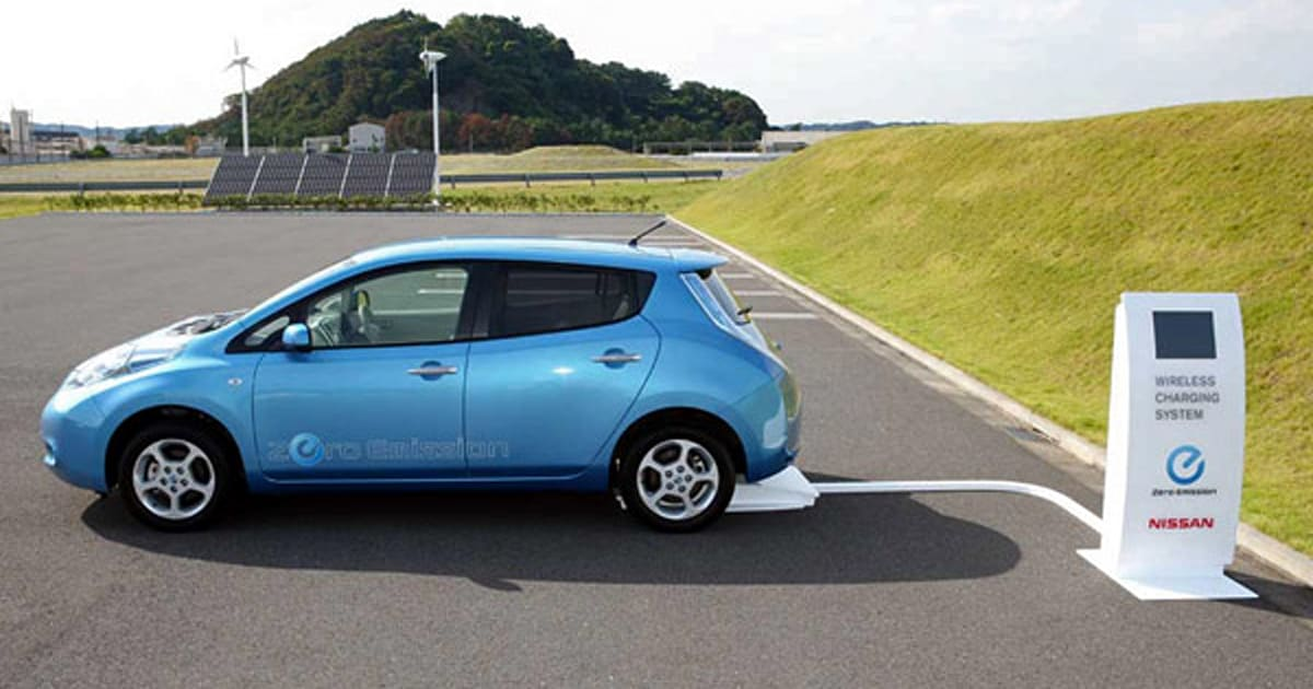 Nissan Leaf to get inductive charging, lose its stem in ...