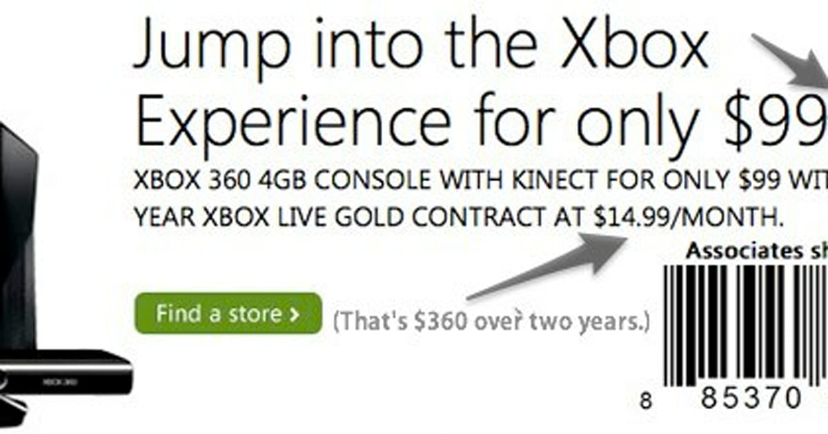 Microsoft officially offering Xbox 360 4GB console for $99