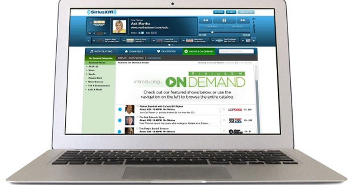 SiriusXM launches On Demand radio, gives offline access to iOS apps
