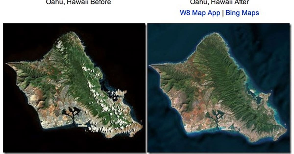 Bing Maps revamped with ocean topography updated satellite imagery – Bing Maps Satellite Image