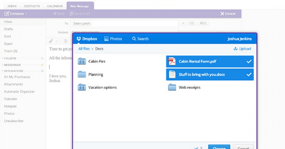 Yahoo! Mail adds Dropbox integration for simple sharing, end to