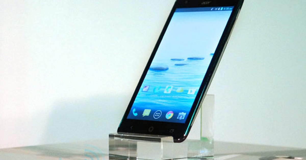 New Acer Smartphone Tablet Appear Ahead Of Computex Press