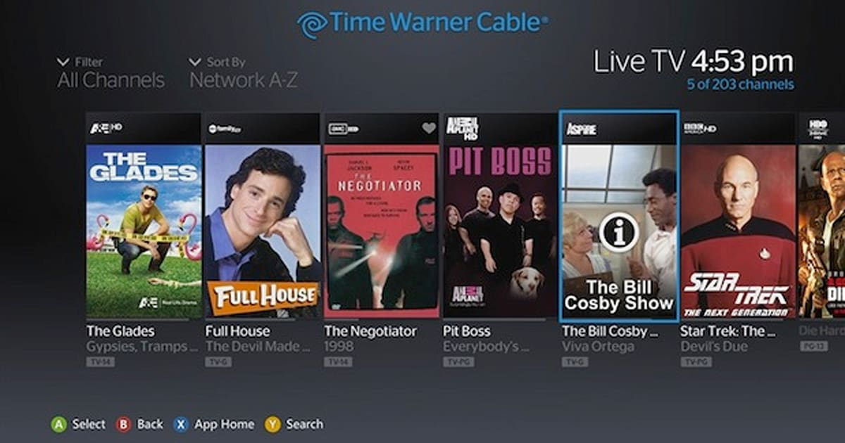 Time Warner Cable TV app brings live TV to Xbox 360
