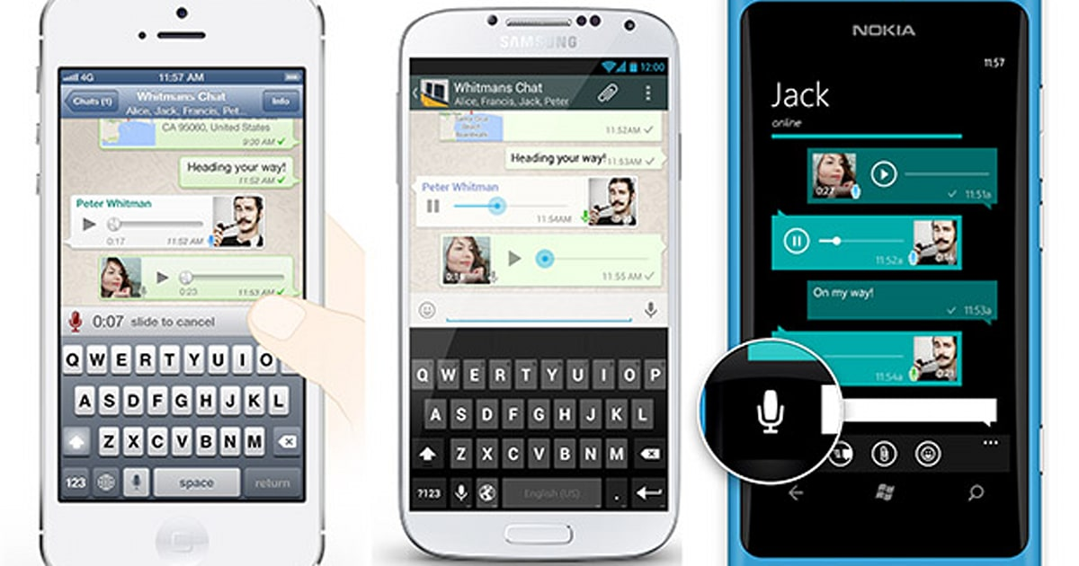 WhatsApp voice messaging updated with one-press record-and-send feature