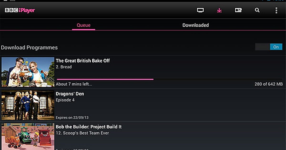 BBC iPlayer for Android finally supports downloads on some
