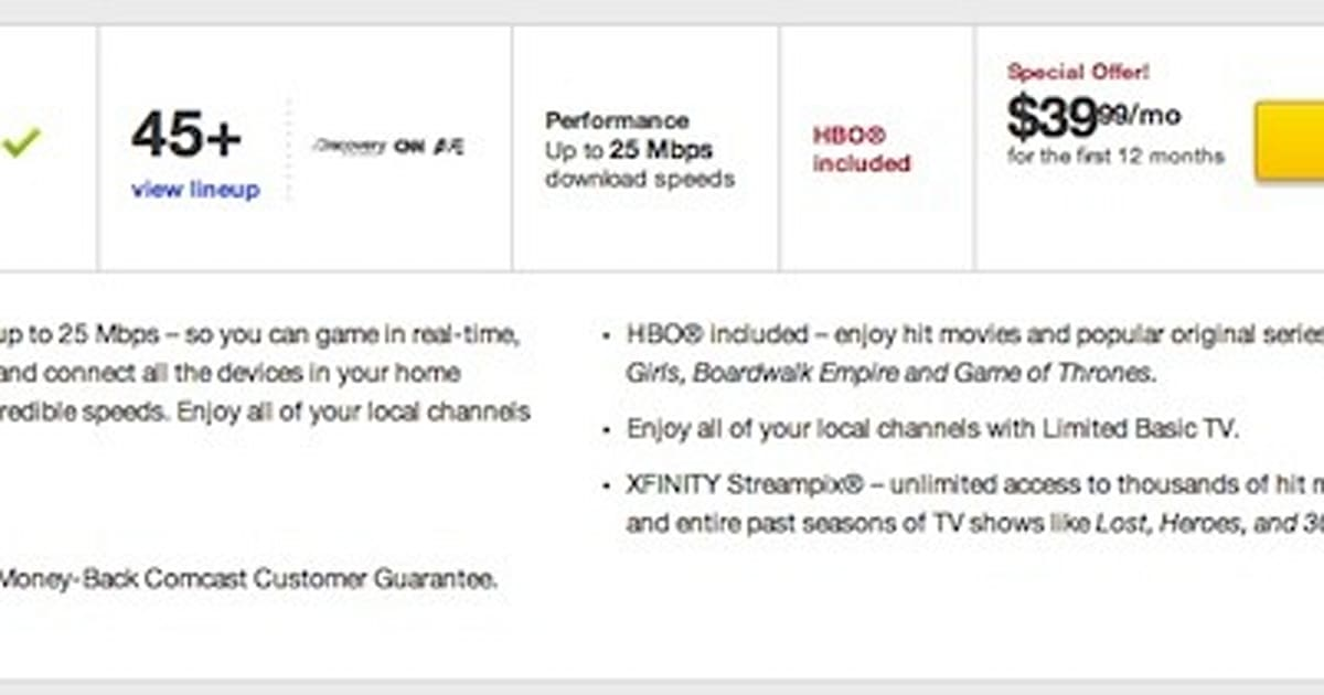 Comcast bundle ties HBO, local TV and internet together for