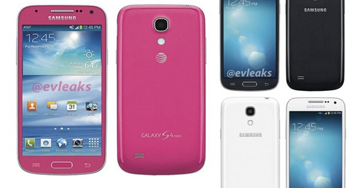 galaxy s4 mini leaked in bubble gum colors for at t and. Black Bedroom Furniture Sets. Home Design Ideas