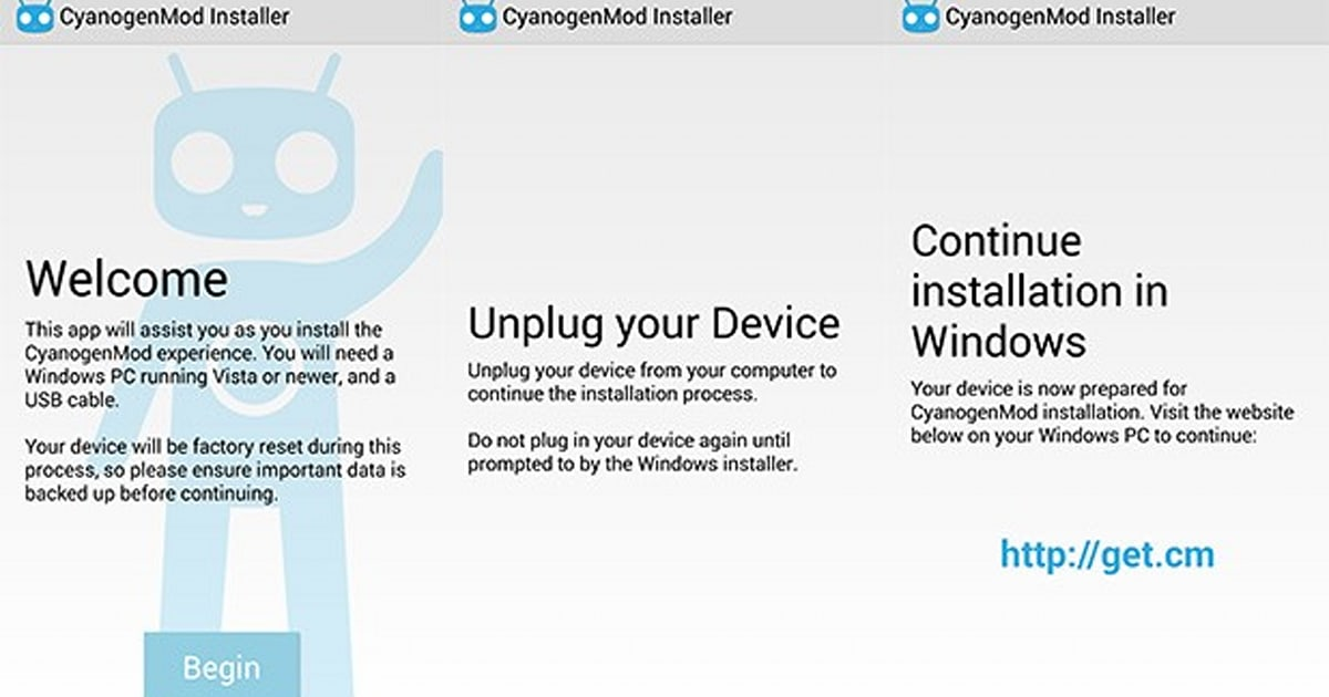 CyanogenMod Installer pulled from Google Play, lives on via