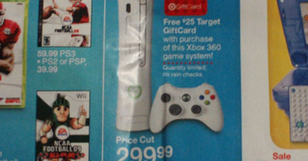 Fuse Xbox 360 Target : Rumor target ad shows xbox includes gift card