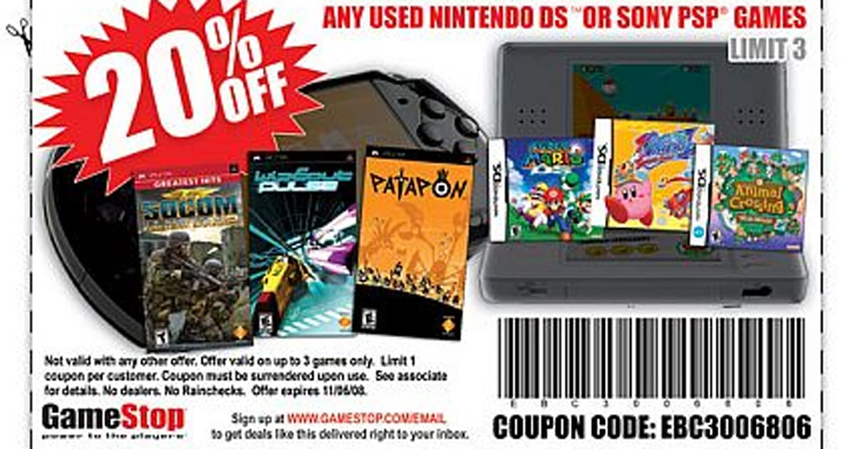 Get 20% off used PSP games at GameStop