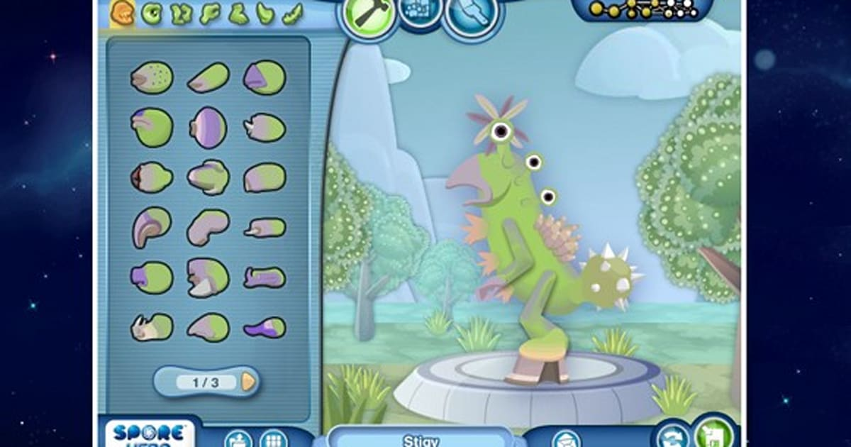 Spore Creature Creator 2-D set free in your browser