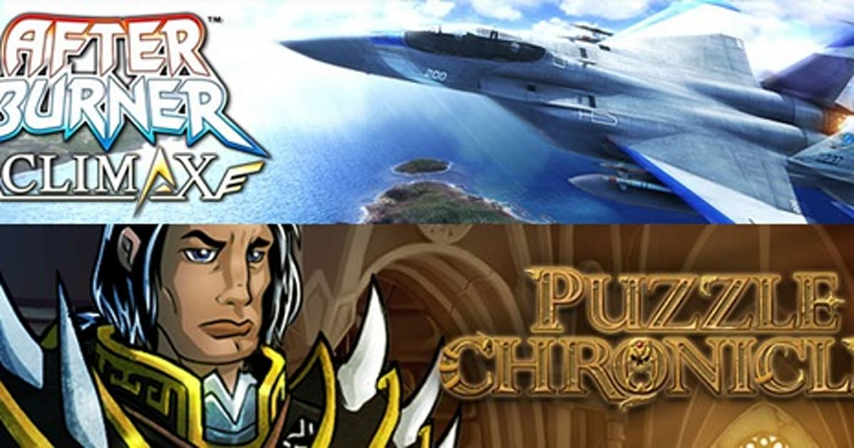 This Wednesday: After Burner Climax and Puzzle Chronicles on