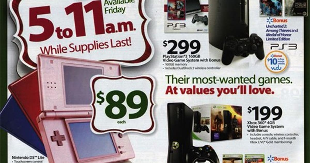 Walmart Black Friday ad includes holiday bundles, games