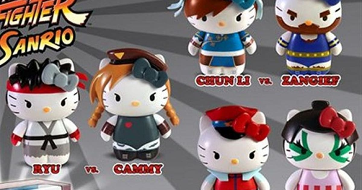 Hello Kitty X Street Fighter Plushies, Figurines, Coin