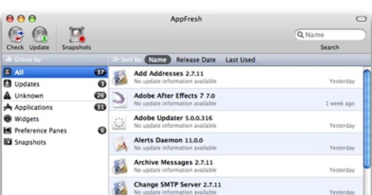 AppFresh - software update for the rest of your apps
