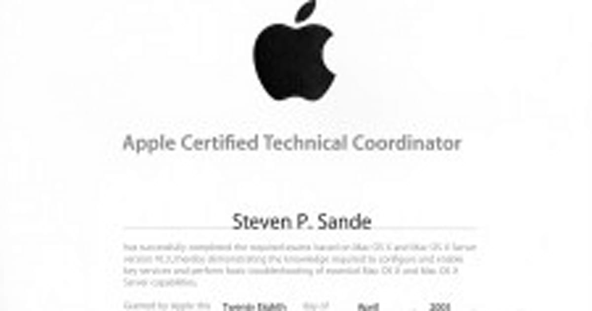 An Introduction To Apple Certification