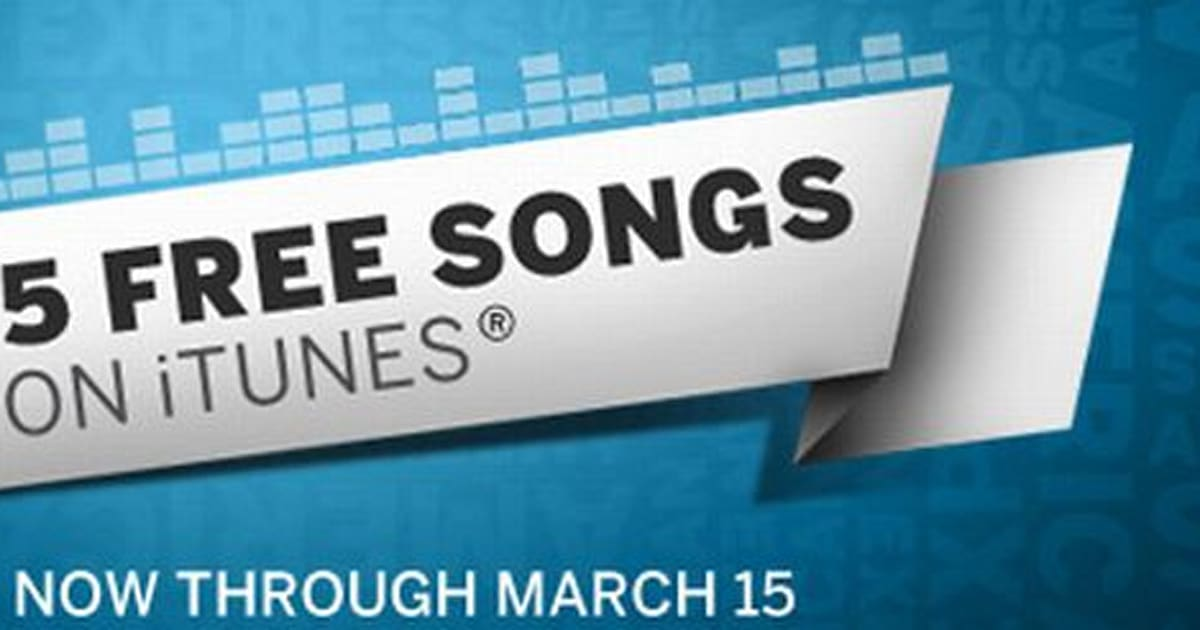 Get five free songs on iTunes with your American Express card