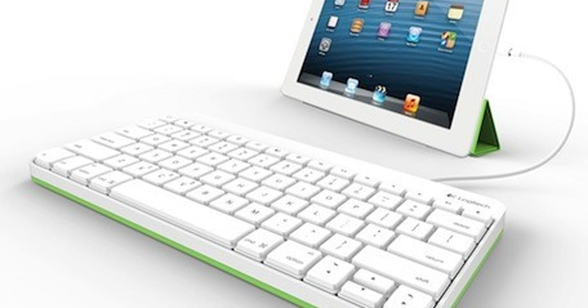 logitech intros wired ipad keyboard especially for education market. Black Bedroom Furniture Sets. Home Design Ideas