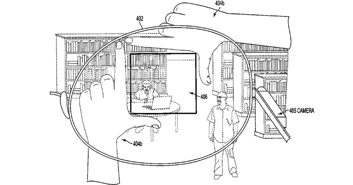 Google patent uses finger frames to snap pics with Glass