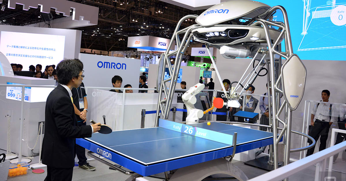 Omron S Updated Ping Pong Robot Can Serve And Take Smashes