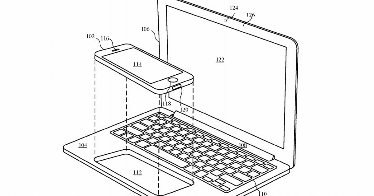 Apple explores using an iPhone or iPad to power a laptop