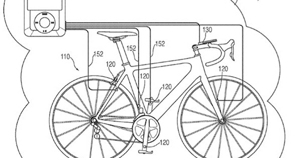 Apple patent application details iPod / iPhone bike