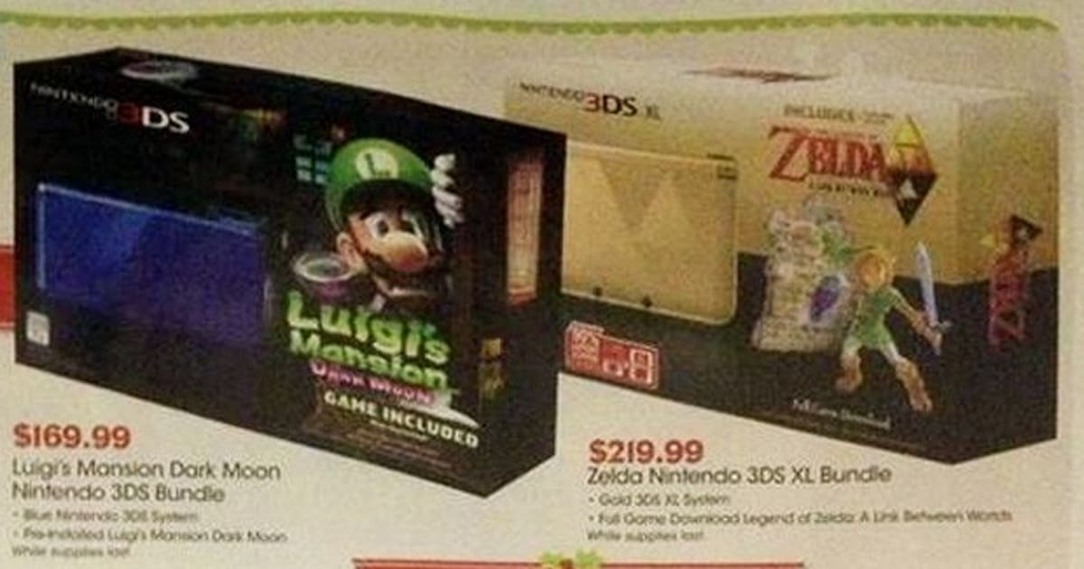 Zelda Edition Nintendo 3ds Xl Spotted In Gamestop Ad With