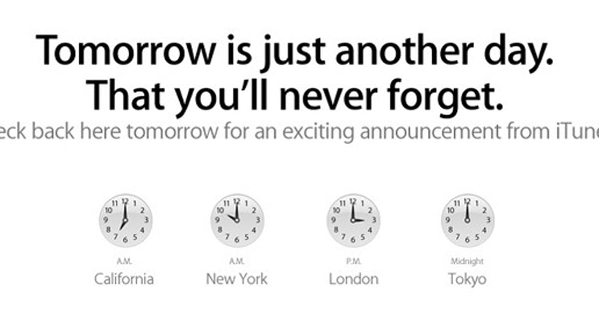 Apple teases iTunes event for tomorrow
