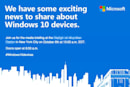 Surface Pro 4、Lumia 950 / XLが発表か。MS、10月6日にプレスカンファレンス開催
