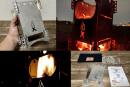 ポケットに入る薄型焚き火台「Flex Fire」をキャンプ初心者が試す!