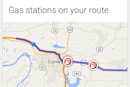 Google Now starts showing gas stations along your route