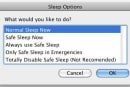 SafeSleep lets you use safe sleep on demand on your Mac