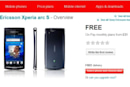 Sony Ericsson Xperia Arc S available now on Vodafone UK
