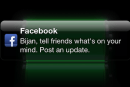 Facebook testing iOS notification that bugs you to update your status