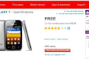 Samsung Galaxy Y available now from Vodafone UK