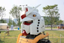 Gundam robot statue returns to Japan, looking worse for wear