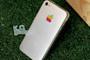 iPhone case mod features aluminum back, vintage logo