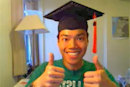 Graduation cap modded with LED array, steals show (video)