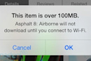 Apple raises cellular download cap to 100MB for iOS