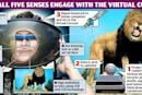 VR headset offers the sights, sounds, and smells of cyberspace  - and tastes, and hot air
