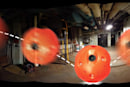 All-in-one camera ball scouts dangerous locations