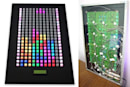 Wall mounted Picture Frame Tetris features 240 LED buttons