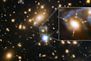 The Big Picture: A far-away supernova split into four
