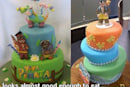 High calorie Banjo-Kazooie and Viva Pinata cakes