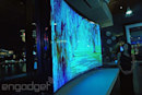 Samsung shows off its 85-inch curved TV that bends with the touch of a button (video)