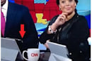 CNN anchor caught on-air using a Microsoft Surface tablet as an iPad stand