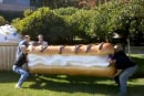 Giant Android eclair delivered to Google by even bigger nerds (video)