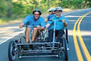 The HumanCar puts your passengers to good use: pedaling
