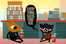 Go on a 2D adventure with your loser friends in Night in the Woods
